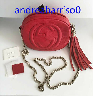1c9448a87428 AUTHENTIC//GUCCI//SOHO//DISCO//RED//LEATHER//CROSSBODY//BAG//ON ...