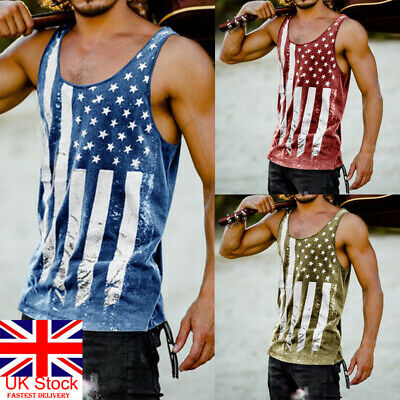 Uk 2Xl Mens Vests Dacron Tank Top Summer Training Gym Sport Tops Pack M-2Xl