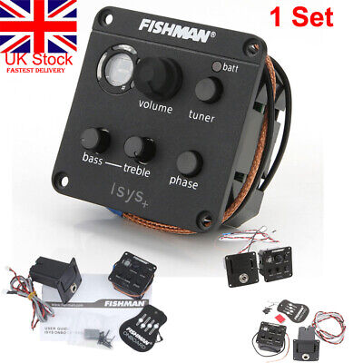 UK FISHMAN ISYS  Acoustic Guitar Pickup Piezo onboard Preamps EQ Tuner Equalizer