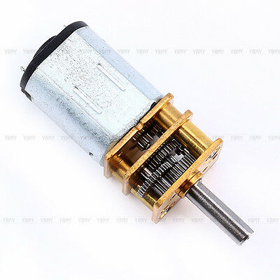 N20 DC3V 6V 12V 50~2000RPM Speed Reduction Gear DC Motor with Metal Gearbox New
