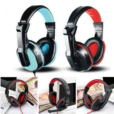 3.5mm Adjustable Gaming Headphones Stereo Noise-canceling Computer Headset LOT