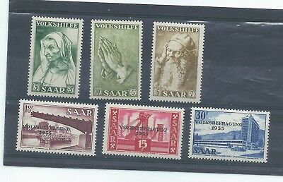 Saar Germany stamps. 1955 Referendum MNH & National Relief Fund MH (D965)