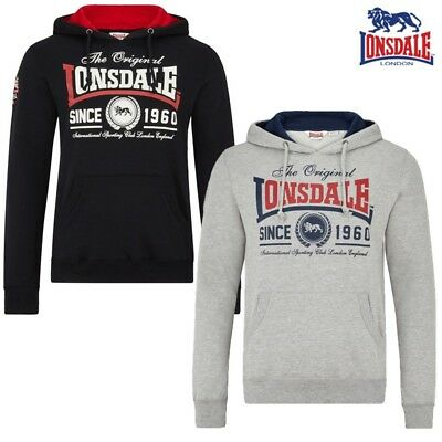 3358666e5ae5f LONSDALE HOMMES BOX Sans Manches Boxe Sweat À Capuche Sweater ...
