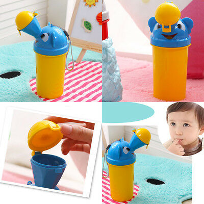 Cute Baby Portable Urinal Travel Car Toilet Kids Vehicular Potty For Boy UK