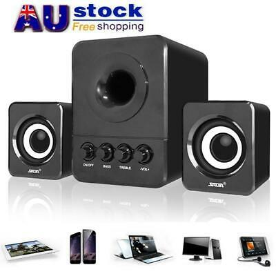 AU Mini USB Computer Speakers Stereo Bass Subwoofer Soundbox for Desktop Laptop