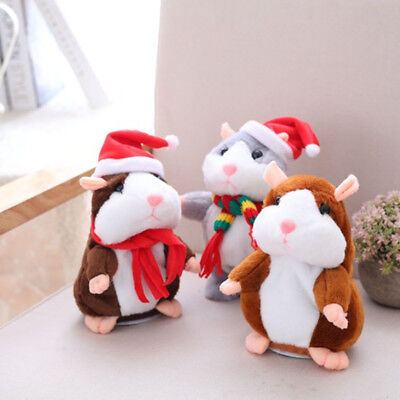 Talking Hamster Pet Repeating What YouSay Electronic Talking Plush Toy Kid Gifts