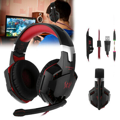 Kopfhörer Gaming Headset USB Stereo Surround LED für PC Mac Laptop PS4 Xbox On