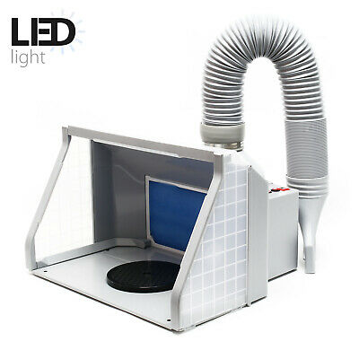 Airbrush Spray Booth Kit Filter Extraction Paint Art 9m³/min LED adjustable