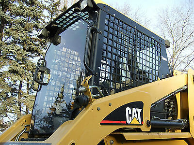 "Cat 216B 226B 236B to 287B Cat 1/2"" Lexan Poly door+ sides cab.skid steer loader"