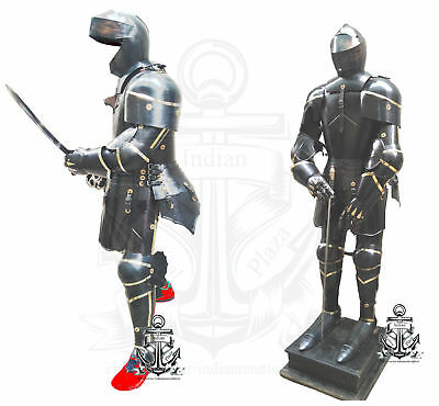 Iron in Suit of Armor Europeon Crusader Medieval Antique Hand-Made With Sword