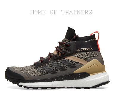 best sneakers 73450 95d48 adidas Consortium Terrex Free Hiker Black Red Mens Trainers All Sizes