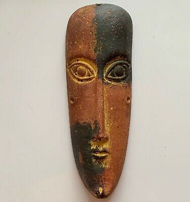 Mayan Mexican Ceramic Mask - Handmade in Mexico - 12cm by 26cm Traditional