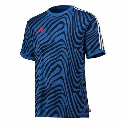 Details about adidas Tango Gradient Training Top Short Sleeve Shirt Red Mens Football
