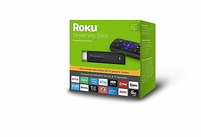 Roku HD 1080p Streaming Stick Player with Voice Remote, 3800RW - New