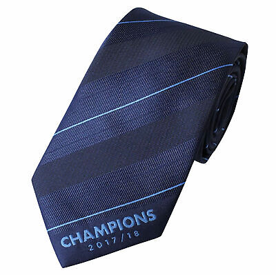 Manchester City Football Sports 2017/18 Champions Tie Polyester