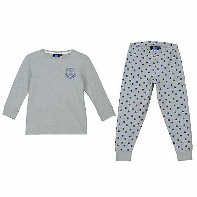 Everton Sweat and Jogger Lounge Set PJ Nightwear Football Grey Marl Girls