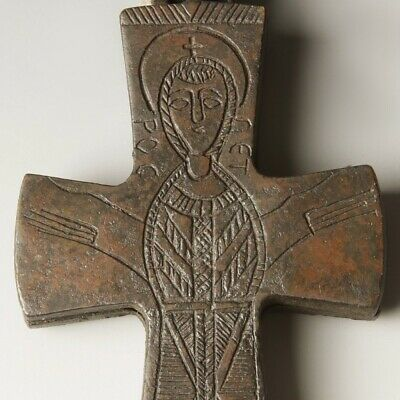 Byzantine Enkolpion Cross with Mary & Child