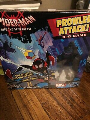 Marvel Age 6 Plus New Spiderman Board Game  3D Prowler  Attack By Hasbro