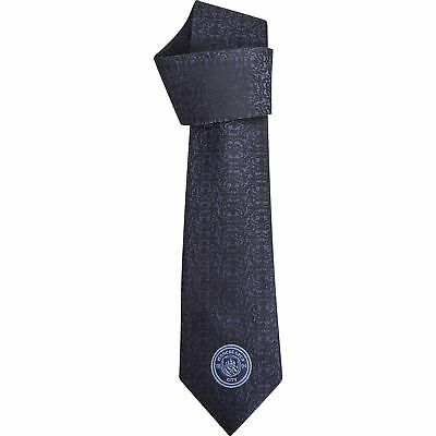 Manchester City Polyester Skinny Tie Navy Football Mens