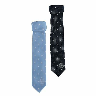 Manchester City 2 Pack Polyester Ties Sky/Navy Football Mens