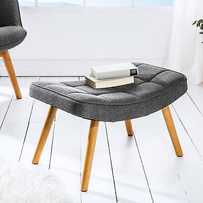 Design Hocker SCANDINAVIA grau Buche Scandinavian Design Fußhocker Sitzhocker