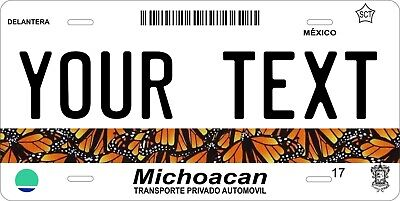 Michoacan 2007  Mexico License Plate Personalized Car Auto Bike Motorcycle Tag