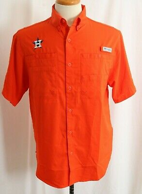 34400d1d9939 NEW HOUSTON ASTROS Gray Embroidered Columbia Omni-Wick Members Polo ...