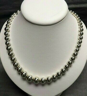 41f08b081 TIFFANY & CO. Graduated Bead Ball Necklace 100% AUTHENTIC! - $199.00 ...