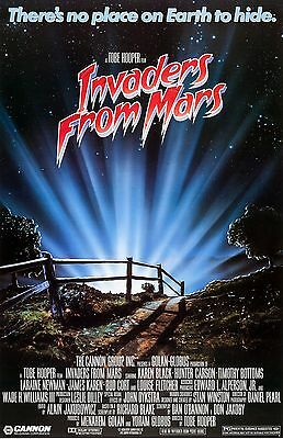 """Invader From Mars movie poster (b) -  11"""" x 17"""" inches - Tobe Hooper"""