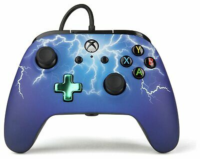 Enhanced Wired Controller for Microsoft Xbox One - Purple Lightning