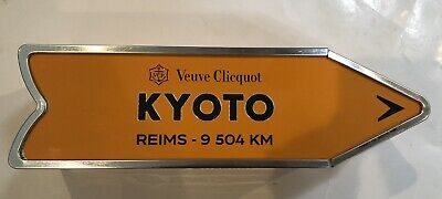 Veuve Clicquot Kyoto Arrow Tin Reims Champagne Journey Street Sign Collectors