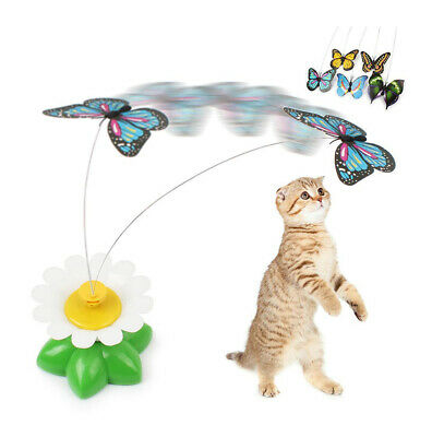 Pet Electric Rotating Bird Butterfly Toy For Cats Teaser Wire Interactive Toys
