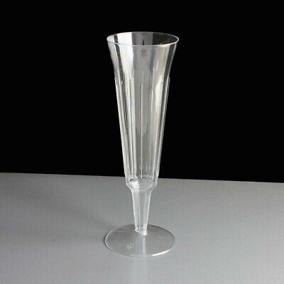 120 Count Wedding Plastic Wine Clear Champagne Flutes Disposable Glasses Cups US