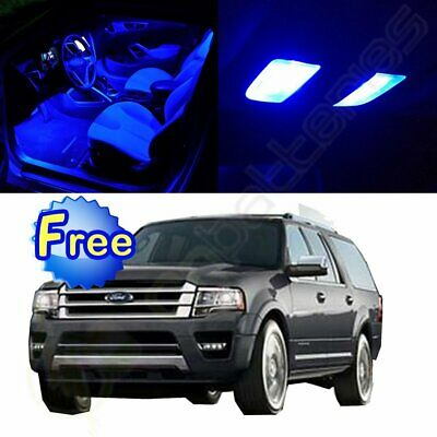 11x Canbus Ice Blue Interior LED Bulbs Package For 1999-2002 Ford Expedition