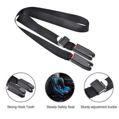 Car Kids Safety Seat Isofix/Latch Belt Adjustable Connecting Fixing Band Strap