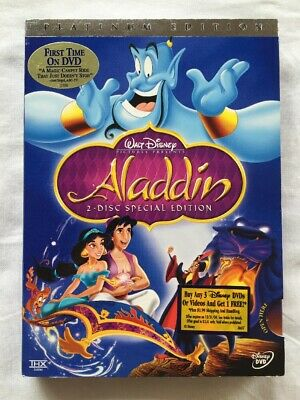Aladdin - authentic Disney (DVD, 2004, 2-Disc Set, Special Edition) NEW! Genuine