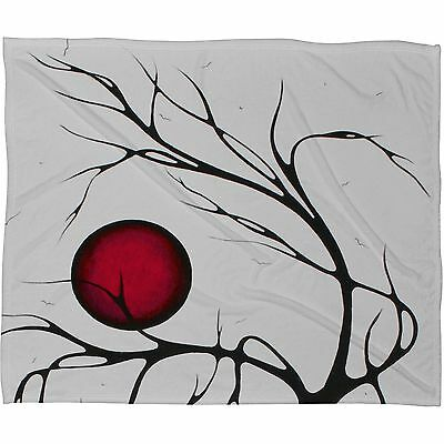 Deny Designs 80 by 60-Inch Madart Inc Soft Wind Blowing Fleece Throw Blanket Large