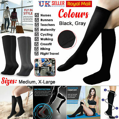 Travel Flight Miracle Socks Unisex Compression Fatigue Anti Swelling DVT Support