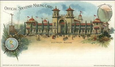 1901 Pan-American Expo Buffalo NY Private Mailing Card ELECTRICITY BLDG