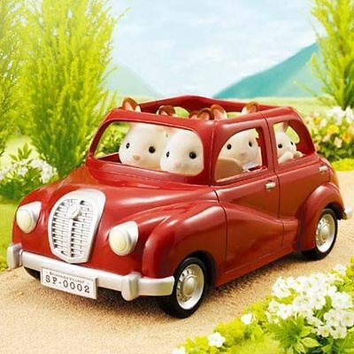 Sylvanian Families Jp Calico Critters V-01 Family Red Car Misb