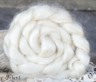 Yearling MOHAIR Wool Roving,Combed Top, Young Adult Mohair, Spinning Wool 4 oz