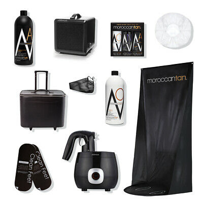 Moroccan Tan Mobile Master Kit Spray Tan System Extraction Curtain Disposables