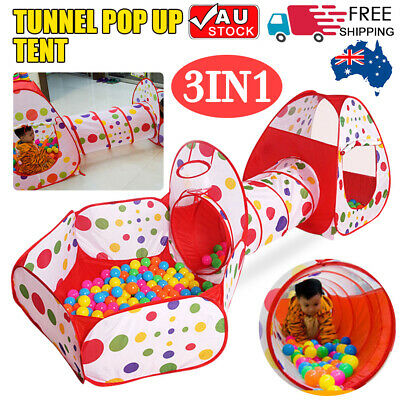 Foldable Kids Baby Play Pit Tunnel Ball Pool Pop Up Tent Playhouse Outdoor Set