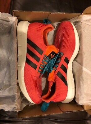 25dc80ead NWD Adidas Men s Originals Swift Run Summer Primeknit Running Orange Shoes  SZ 11
