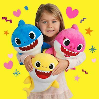 Baby Shark Music Dolls Toys With Music LED Cute Cartoon Shark Animal Plush Toys