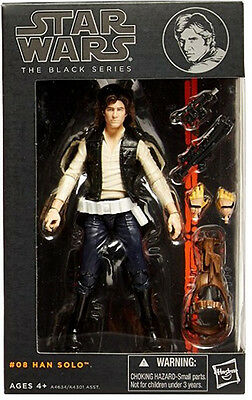 """Star Wars The Black Series 6"""" Wave 2 #08 Figure Han Solo Authentic BRAND NEW"""