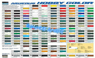 MR HOBBY GUNZE AQUEOUS COLOR ACRYLIC H1-H100 Colours NEW MODEL PAINT 10ml FreeSp