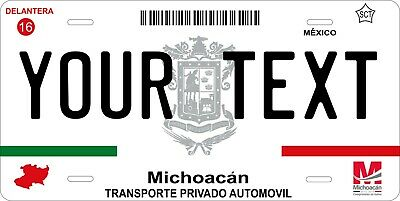 Michoacan 2012  Mexico License Plate Personalized Car Auto Bike Motorcycle Tag