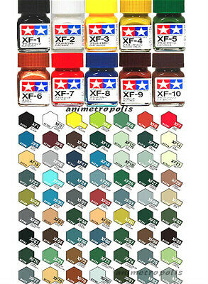 O Tamiya Enamel Color 田宮 タミヤ 80301-80385 XF-1 to XF-85 Flat Paint 10ml NEW