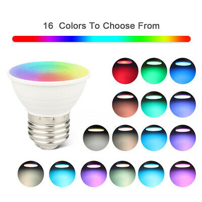5W Dimmable GU10 RGB RGBW Colour Changing LED Remote Control Light Bulb Novelty